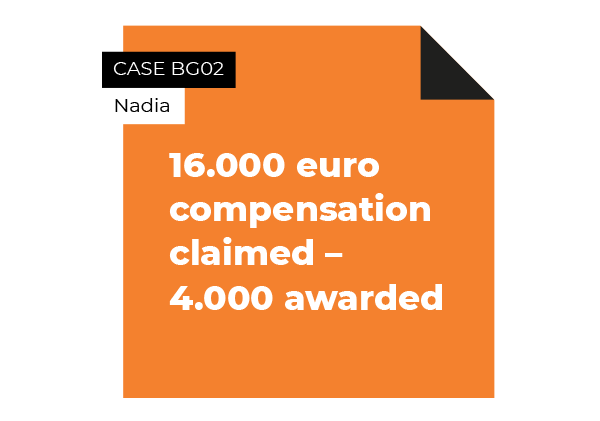 case compensation claimed and partly awarded
