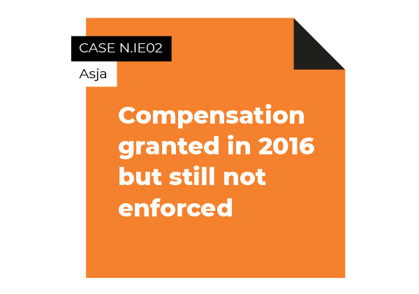 case compensation granted but not enforced